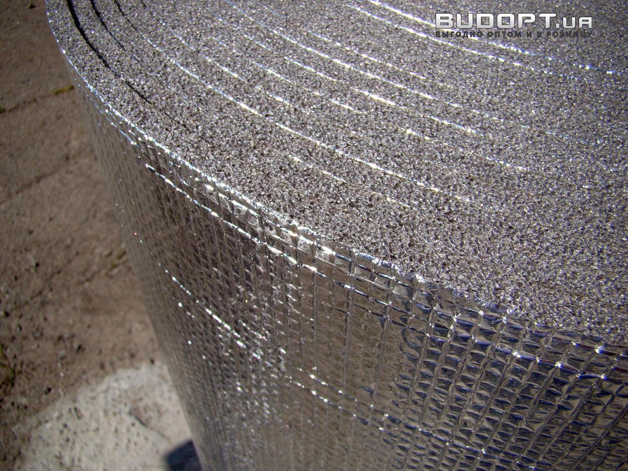 Фольгированный химически сшитый пенополиэтилен 8мм ( ППЭ НХ + фольга)