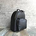 Рюкзак с шипами по контуру / эко-кожа (0573) Желтый, фото 5