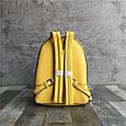 Рюкзак с шипами по контуру / эко-кожа (0573) Желтый, фото 4
