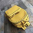 Рюкзак с шипами по контуру / эко-кожа (0573) Желтый, фото 3