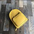 Рюкзак с шипами по контуру / эко-кожа (0573) Желтый, фото 2