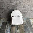 Рюкзак с шипами по контуру / эко-кожа (0573) Желтый, фото 8