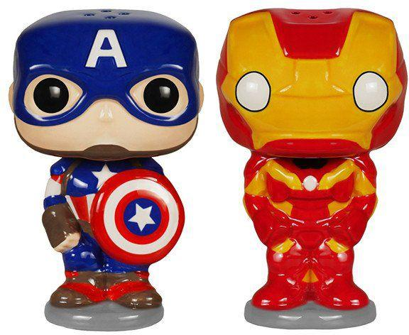 Фигурка Funko POP! Home: Salt n' Pepper Shakers: Marvel - Captain  America