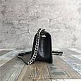 Сумочка в стиле Шане-ль Бой фактура крокодил / натуральная кожа (кт-977) Черный, фото 5