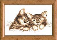 """Набор для вышивки крестом №296 """"Котята"""", Чарівна Мить"""