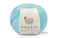 Gazzal Baby Cotton, Лазурный №3451