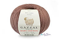 Gazzal Baby Cotton, Молочный шоколад №3455