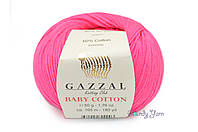 Gazzal Baby Cotton, Фуксия №3461