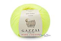 Gazzal Baby Cotton, Желтый неон №3462