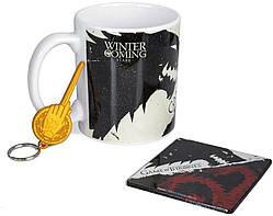 Подарунковий набір Pyramid International Game of Thrones: Stark & Targaryen Mug, Coaster and Set Keychain