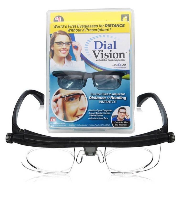 Очки-лупа с регулировкой линз увеличительные Dial Vision