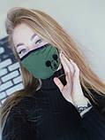 Маска на лицо  с принтом Микки женская 3 цвета, фото 4