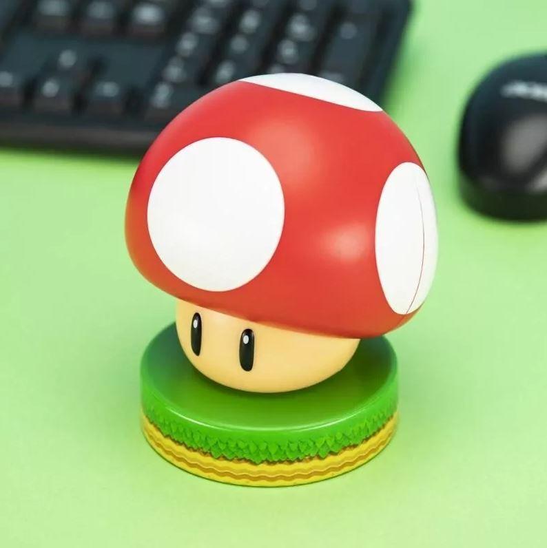 Ночник Paladone Super Mario: Super Mushroom Icon Light V3