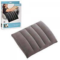 Надувная подушка (подголовник) для путешествий, отдыха, пляжа, под шею в самолет Intex (68679)