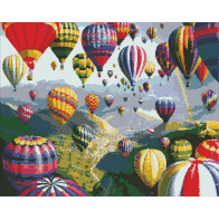 Алмазная вышивка Идейка - Воздушные шары 40*50 (АМ6114)