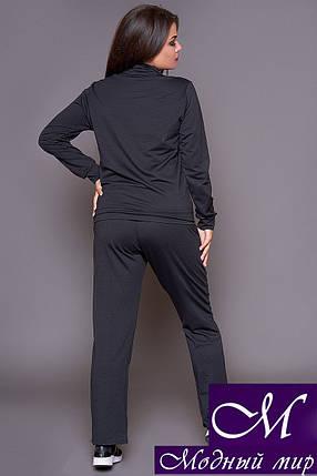 Черный спортивный костюм большого размера (р. 46-48, 50-52, 54-56, 58-60) арт. 31-502, фото 2