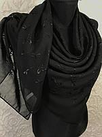 Большой черный платок шифоновый (цв 18)
