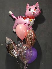 Набор шаров с гелием для девочки