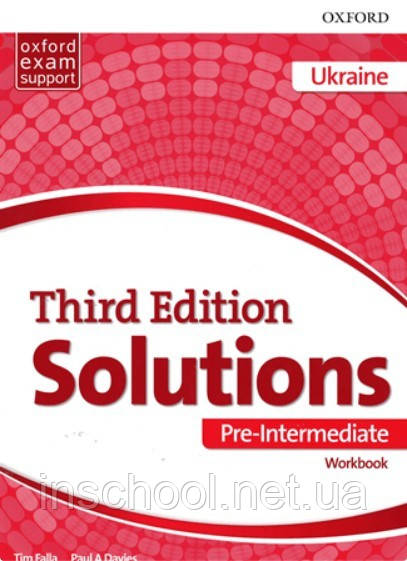 Solutions 3rd Edition Pre-Intermediate WB (UA) ISBN: 9780194510646
