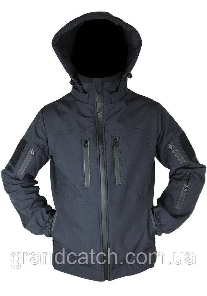 Куртка штормовая Soft shell Синяя