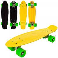 Скейт (скейтборд) детский пластиковый для трюков 56.5х15см Profi (MS 0848-6)