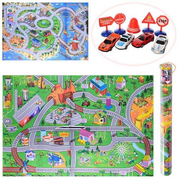 Детский игровой развивающий коврик OSPORT с фигурками 80х122см (019A-23P-25P)