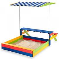 Детская песочница 1,45х1,45м со столиком SportBaby (Песочница-20)