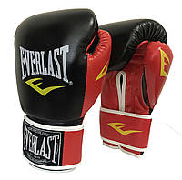 Боксерские перчатки на липучке кожа PU Everlast 10-12 OZ (MS 1951)