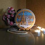 Соляной светильник круглый Эйфелева М+Ж цветной, фото 2