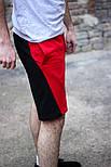 """Шорти мужские летние красные с черным """".Vidlik"""". Живое фото, фото 2"""
