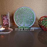 Соляной светильник круглый Дерево цветное, фото 2