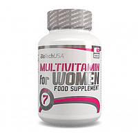 Комплекс витаминов и микроэлементов для спортсменов женщин Multivitamin For Women 60 таб Biotech USA 00519-01