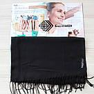 Турецкий черный шарф из тонкой пашмины 116020, фото 2