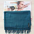Турецкий бирюзовый шарф из тонкой пашмины 116025, фото 2