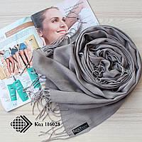 Турецкий шарф из тонкой пашмины (серый) 116028