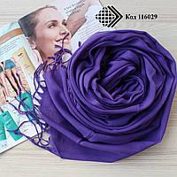 Турецкий фиолетовый шарф из тонкой пашмины 116029