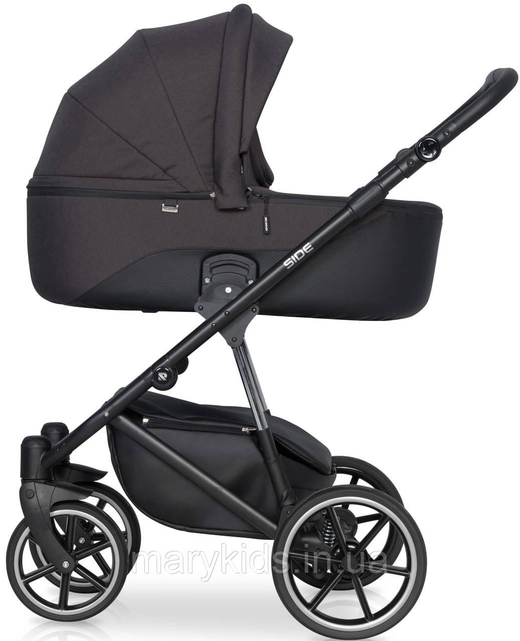Детская универсальная коляска 2 в 1 Riko Side 05 Antracite