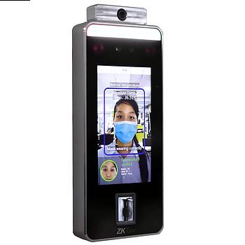 Бесконтактный биометрический контроль доступа с измерением температуры тела ZKTeco SpeedFace-V5L[TD]