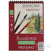 Альбом для акварелі пружина А5 (14,8*21см) 200г/м2 30л, Accademia Fabriano