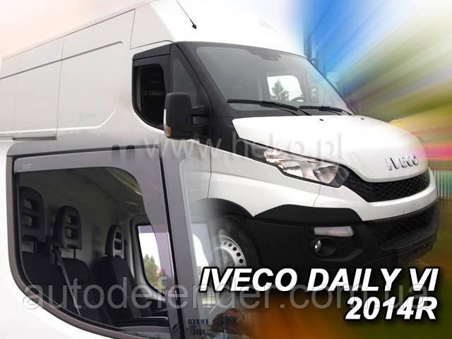 Дефлектори вікон (вставні!) вітровики Renault Gama K/T 2014-, HEKO, 27188
