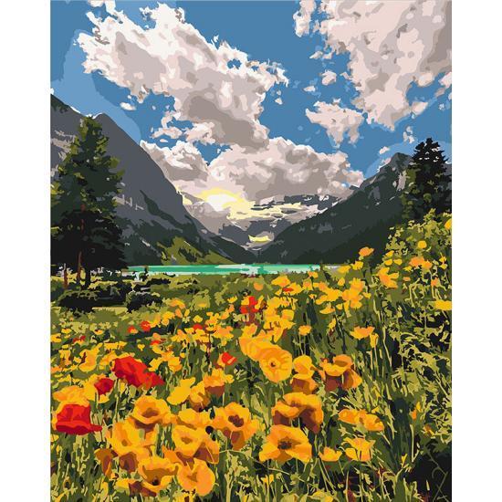 Картина по номерам Идейка - Величественные Альпы 40x50 см (КНО2268)
