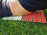 Коврик-колючки массажный аппликатор Кузнецова (массажер для спины и ног) OSPORT 16х16 см 1шт