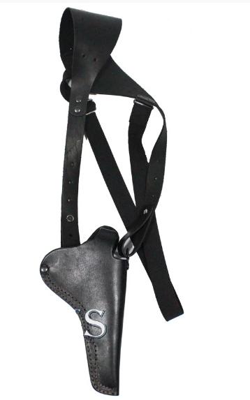 Кобура оперативная для револьвера кожаная Наган, Гром, Блеф, МР313 накладка для ношения на поясе