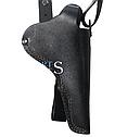 Кобура оперативная для револьвера кожаная Наган, Гром, Блеф, МР313 накладка для ношения на поясе, фото 2