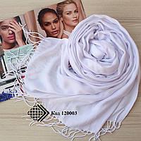 Шарф палантин білий Ozsoy Адель із пашміни 120003