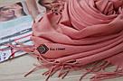 Шарф палантин лососевий Ozsoy Адель із пашміни 120005, фото 3
