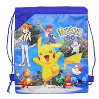 Сумка (рюкзак) детская спортивная для обуви и одежды на затяжке Profi (MK 0850)