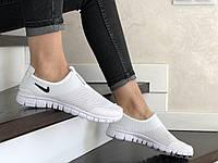 Женские кроссовки белые Free Run 9216