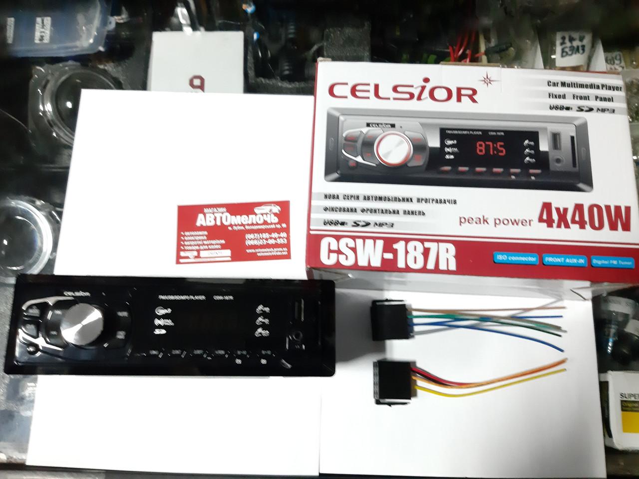 Магнитола автомобильная Celsior (USB FM) евро разъем