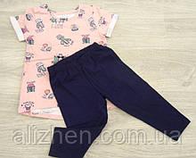 Летний детский костюм для девочки тм Фламинго на рост 92,98,104,110,116.